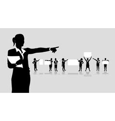 business women boards vector image