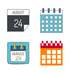 Calendar web icons office organizer vector