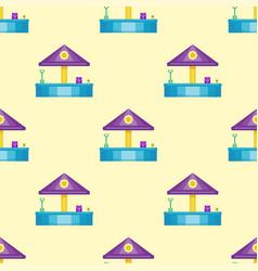 Children playground fun childhood seamless pattern vector