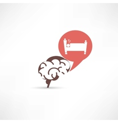 Update brain cells sleeping icon vector