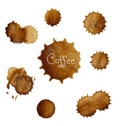 Coffee stains big set vector