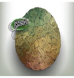 Doodles ornament easter egg background vector