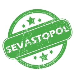 Sevastopol green stamp vector