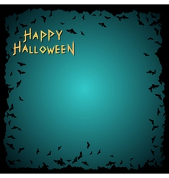 Halloween background with bats frame vector