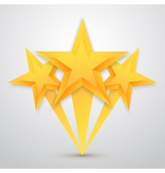 Set of gold stars icon five stars icon vector