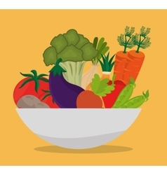 Food healthty lifestyle design vector