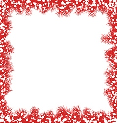 Christmas border with snowflakes vector