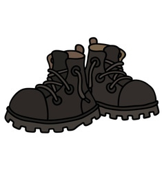 Funny black boots vector