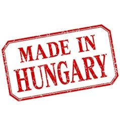 Hungary - made in red vintage isolated label vector