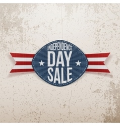 Independence day sale scratched emblem vector