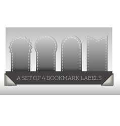 A set of 4 bookmark labels vector image vector image
