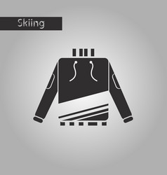 black and white style icon skiing sweater vector image vector image