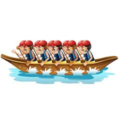 Boat racing vector image vector image