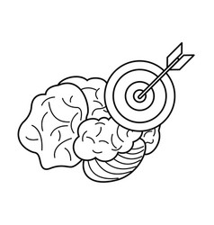 brain target business outline vector image