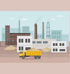 Building factory industry zone construction vector