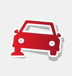 Car parking sign new year reddish icon vector