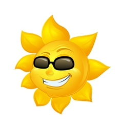cartoon sun in sunglasses vector image