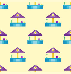 Children playground fun childhood seamless pattern vector