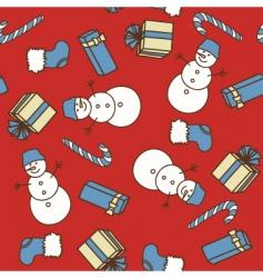 Christmas seamless texture vector image vector image
