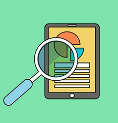 Color line flat of web analytics information and vector image