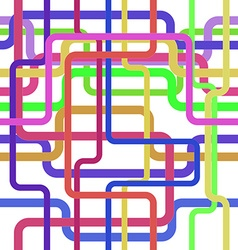 Color lines seamless pattern tangled stripes vector image