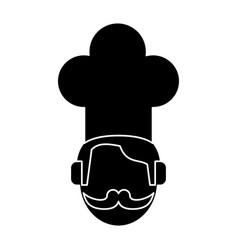 Face chef restaurant symbol pictogram vector