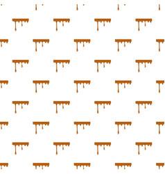 Flowing drop of caramel pattern vector
