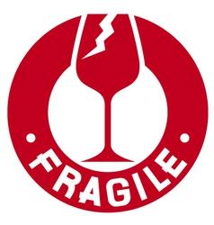 Fragile stamp - Fragile symbol vector image vector image
