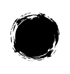 Hand painted ink blob vector