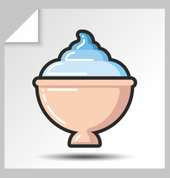 Ice cream icons 4 vector