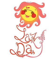 lazy day vector image vector image