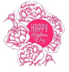 Lettering Happy Mothers Day vector image