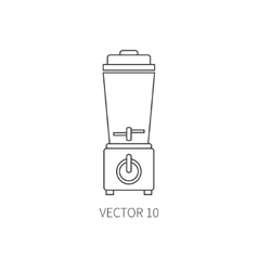Line flat kitchenware equipment icons vector