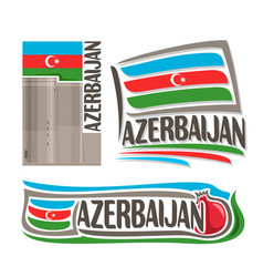 Logo for azerbaijan vector