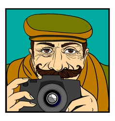 photographer vector image