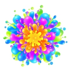 Rainbow colors paint splash on white background vector