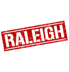 Raleigh red square stamp vector