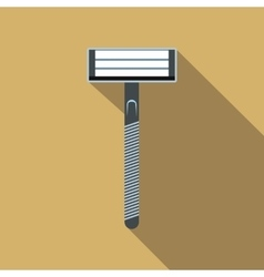 Razor flat icon with shadow vector image vector image