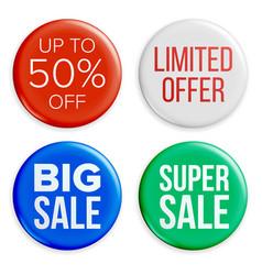 sale badges set discount special offer vector image vector image