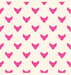 seamless pattern with chihuahua vector image
