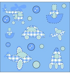 Seamless pattern with plane helicopter missile a vector