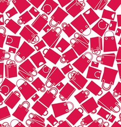 Shopping bags seamless background monochrome vector image vector image