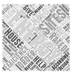 Tasmania house energy star ratings word cloud vector