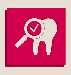 Tooth icon with arrow sign grayscale vector