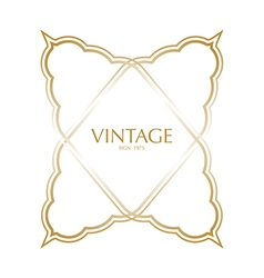 Vintage frame badges and labels background vector image