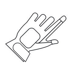 Wired glove virtual reality accesory thin line vector