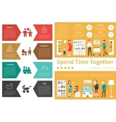 Spend time together infographic flat vector