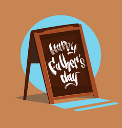 Happy father day family holiday bar sign vector