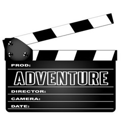 Adventure movie clapperboard vector
