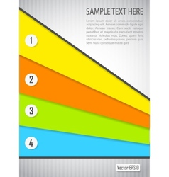Abstract background with colored banners vector image